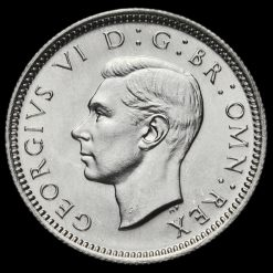 1945George VI Silver Sixpence Obverse