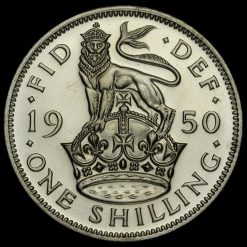 1950 George VI Proof English Shilling Reverse