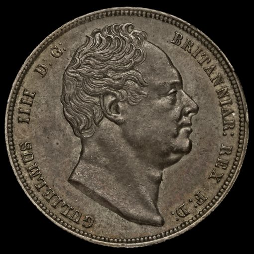 1834 William IV Milled Silver Half Crown Obverse