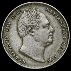 1834 William IV Milled Silver Sixpence Obverse