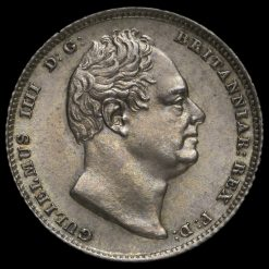 1835 William IV Milled Silver Sixpence Obverse