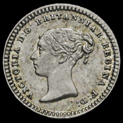 1839 Queen Victoria Young Head Silver Three-Halfpence Obverse