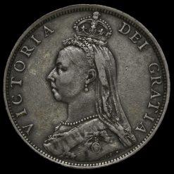 1891 Queen Victoria Jubilee Head Silver Florin Obverse