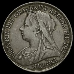 1897 Queen Victoria Veiled Head LXI Crown Obverse