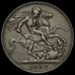 1897 Queen Victoria Veiled Head LXI Crown Reverse