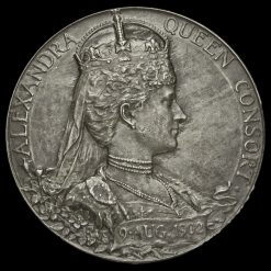 1902 Edward VII Coronation Official Silver Medal Reverse