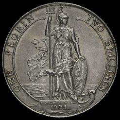 1903 Edward VII Silver Florin Reverse