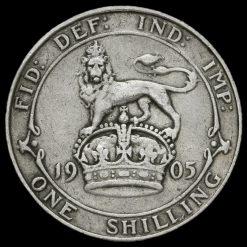 1905 Edward VII Silver Shilling Reverse