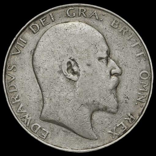 1906 Edward VII Silver Half Crown Obverse