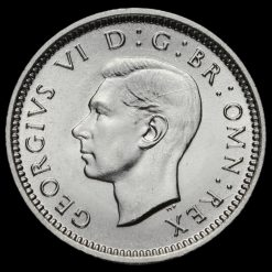 1937 George VI Silver Threepence Obverse
