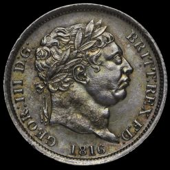 1816 George III Milled Silver Shilling Obverse