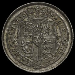 1816 George III Milled Silver Sixpence Reverse