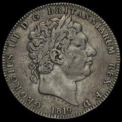1819 George III Milled Silver LX Crown Obverse