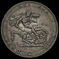 1819 George III Milled Silver LX Crown Reverse