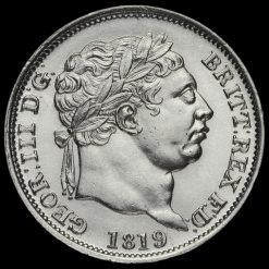 1819 George III Milled Silver Shilling Obverse