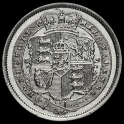 1819 George III Milled Silver Shilling Reverse