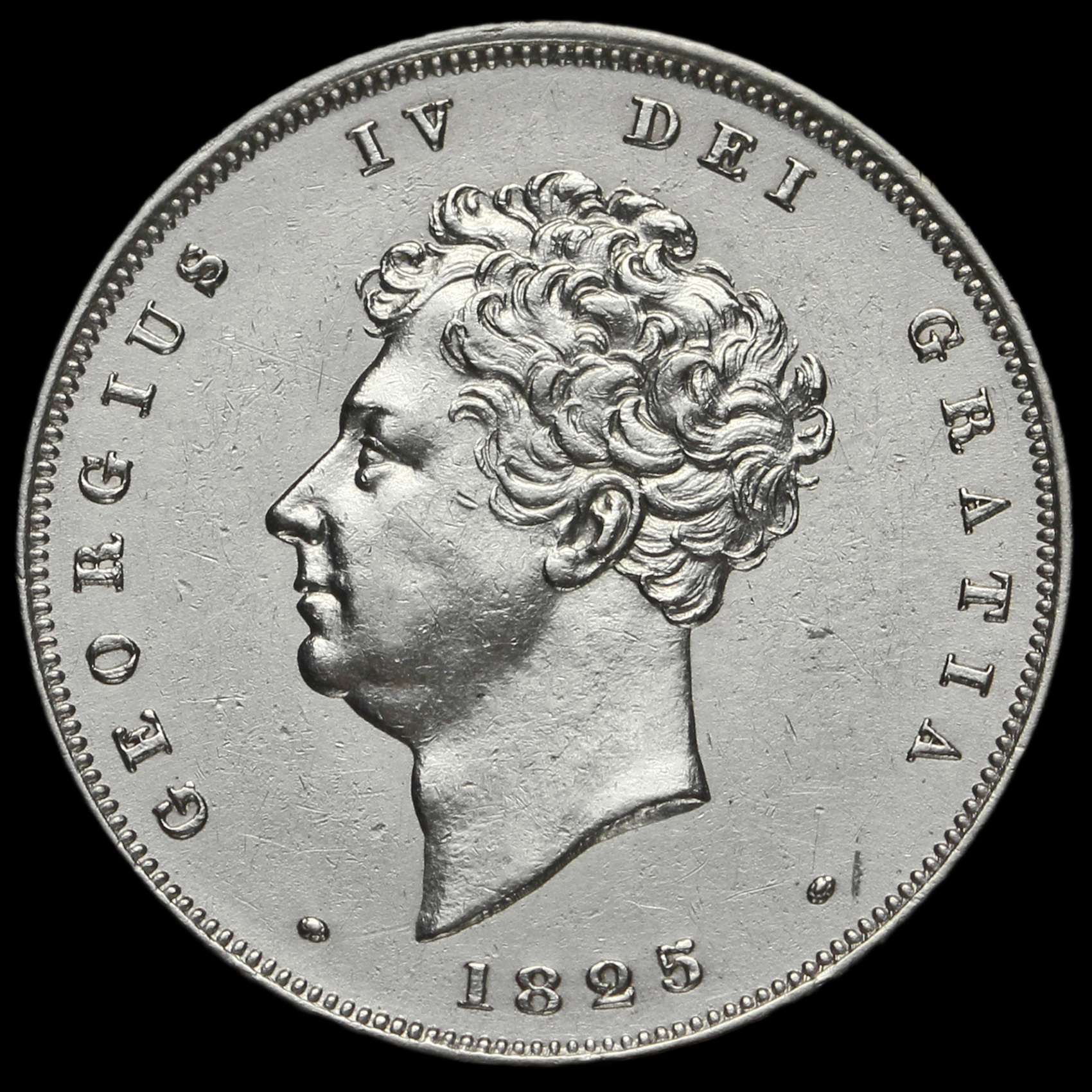 1825 george iv bare head milled silver shilling ef 2 for 1825 2