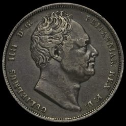 1836/5 William IV Milled Silver Half Crown Obverse
