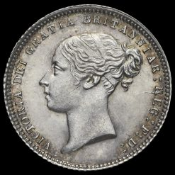 1871 Queen Victoria Young Head Silver Sixpence Obverse