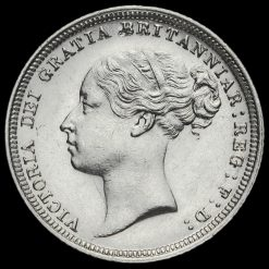 1883 Queen Victoria Young Head Silver Sixpence Obverse