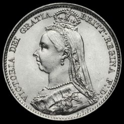 1891 Queen Victoria Jubilee Head Silver Sixpence Obverse