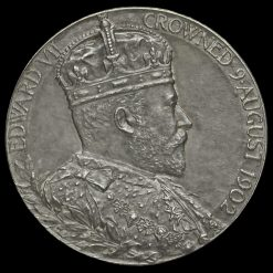 1902 Edward VII Coronation Official Silver Medal Obverse