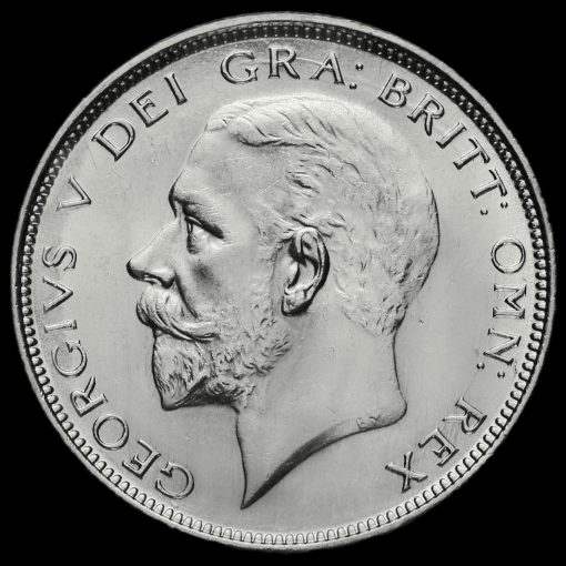 1927 George V Silver Half Crown Obverse