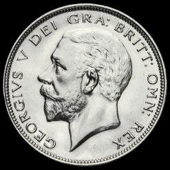 1932 George V Silver Half Crown Obverse