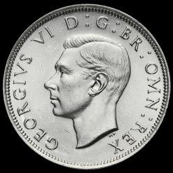 1937 George VI Silver Half Crown Obverse