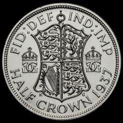 1937 George VI Silver Proof Half Crown Reverse
