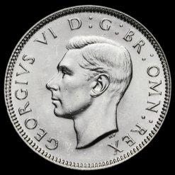 1938 George VI Silver English Shilling Obverse