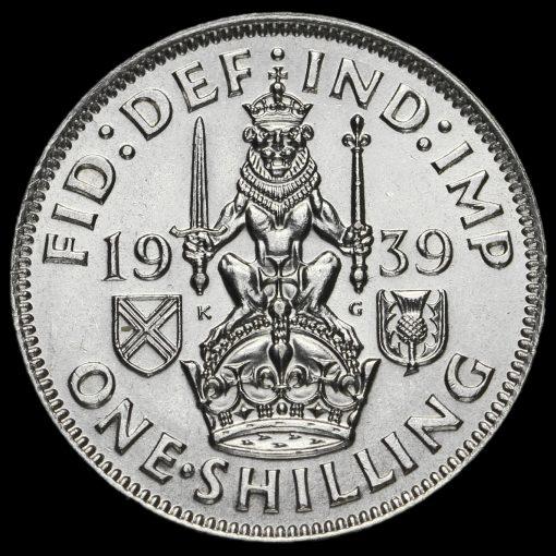 1939 George VI Silver Scottish Shilling Reverse