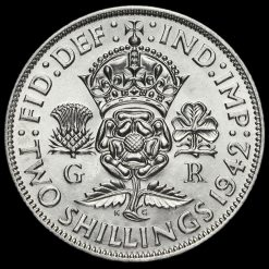 1942 George VI Silver Two Shilling Coin / Florin Reverse