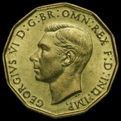 1943 George VI Brass Threepence Obverse