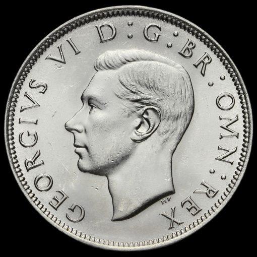 1946 George VI Silver Half Crown Obverse