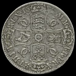 1682 Charles II Early Milled Silver Tricesimo Qvarto Crown Reverse