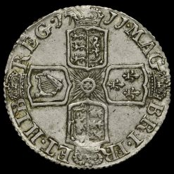 1711 Queen Anne Early Milled Silver Sixpence Reverse