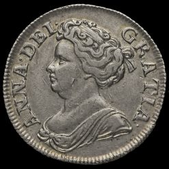 1711 Queen Anne Early Milled Silver Shilling Obverse