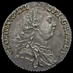1787 George III Early Milled Silver Shilling Obverse