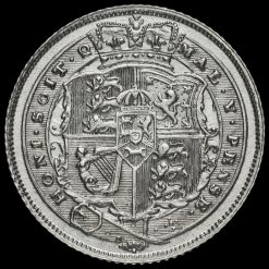1819 George III Milled Silver Sixpence Reverse