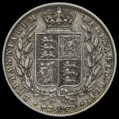 1840 Queen Victoria Young Head Silver Half Crown Reverse