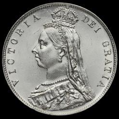 1892 Queen Victoria Jubilee HeadSilver Half Crown Obverse