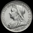 1901 Queen Victoria Veiled Head Silver Shilling Obverse