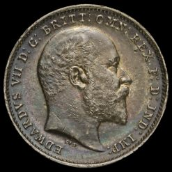 1903 Edward VII Silver Threepence Obverse
