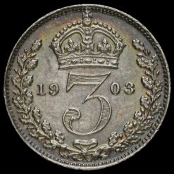 1903 Edward VII Silver Threepence Reverse