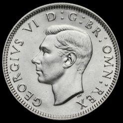 1938 George VI Silver English Shilling Obverse