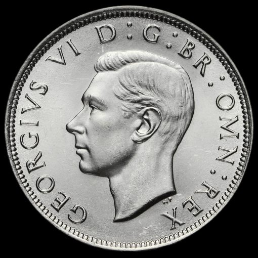 1945 George VI Silver Half Crown Obverse