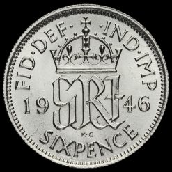 1946George VI Silver Sixpence Reverse