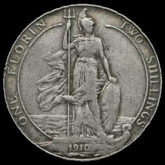 1910 Edward VII Silver Florin Reverse