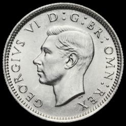 1942 George VI Silver Sixpence Obverse